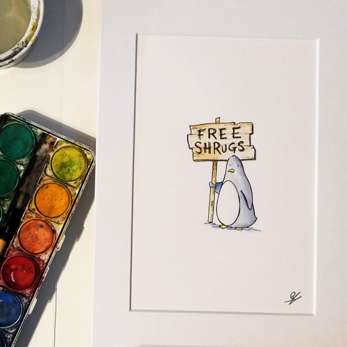Penguin Painting - Free Shrugs