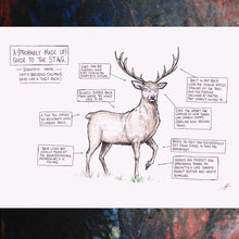 Load image into Gallery viewer, A (Probably Made Up) Guide To The Stag - A3 Print