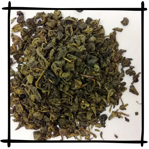 Loose Leaf Gunpowder and Mint Tea