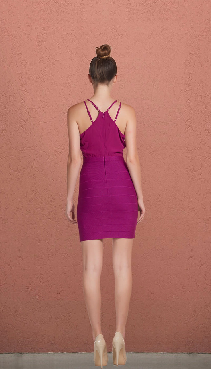 Tampa Sleeveless V Neck Front Cage Dress