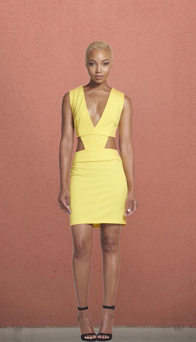 Vegas Cut Out V Neck Mini Dress