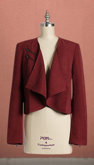 London Burgundy Suede Blazer