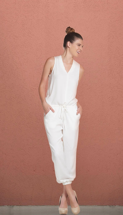 LA Days Off White Jumpsuit