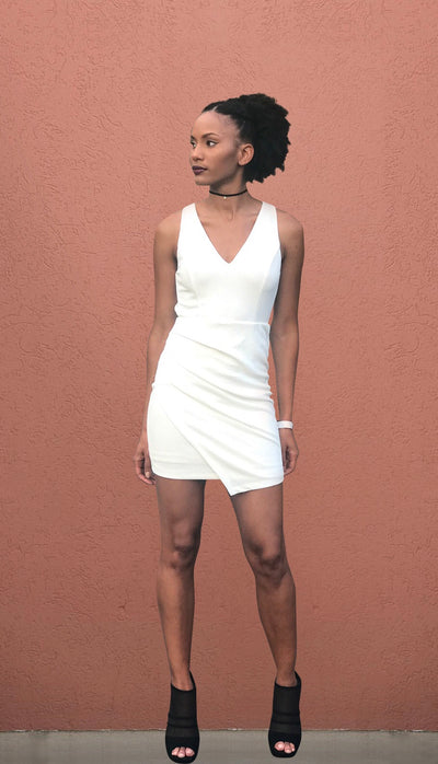 Fine Arts District Asymmetric Dress