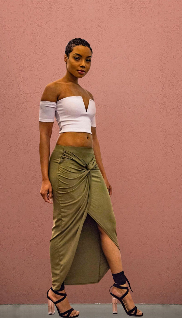 Chi Town Asymmetrical Wrap Skirt