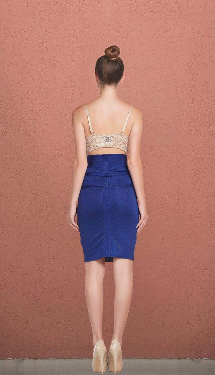 Boston Blue Bandage High Waist Skirt