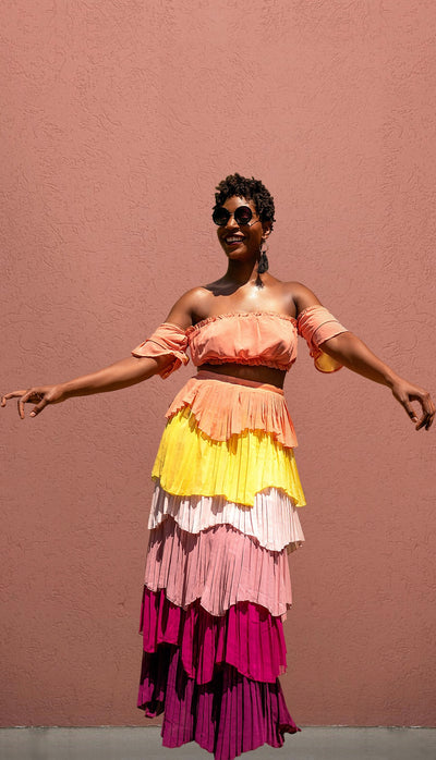 "Take me to ""Cuba"" Pleated Set"