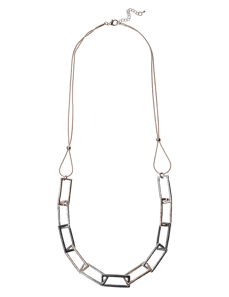 Necklace With Three Tone Frame-Links