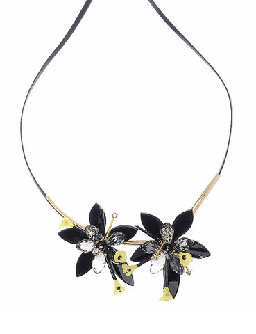 Adjustable Duo-Flower Necklace