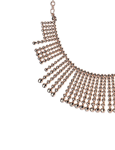 Beaded Effect Necklace in Rose Gold