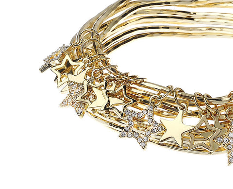 Gold Bangles with Stars