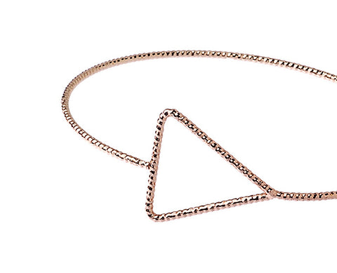 Triangle Wristlet in Rose Gold