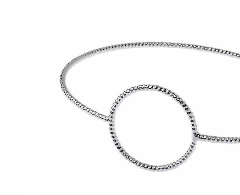 Circle Wristlet in Silver