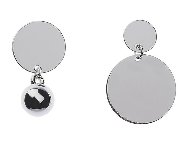 Asymmetrical Discs Earrings