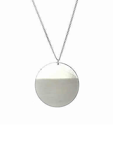 Disc Pendant in Silver