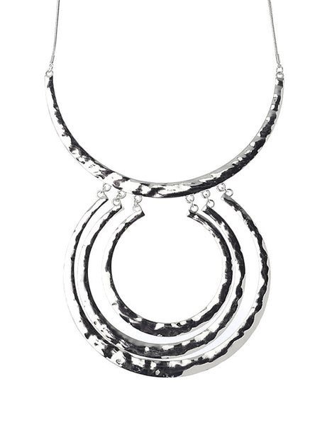 Silver Collar with Hollow Circles