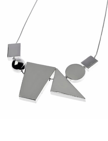 Silver Necklace with Assorted Shapes