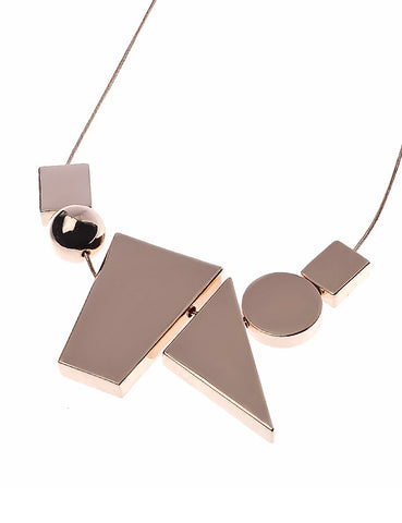 Rose Gold Necklace with Assorted Shapes