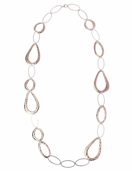 Textured Chain Necklace in Rose Gold
