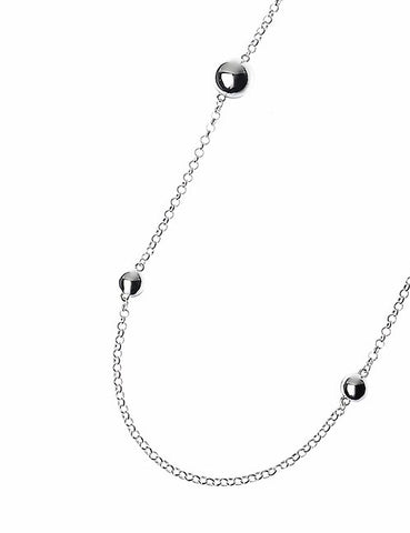 Silver Long Chain with Sphere Beads