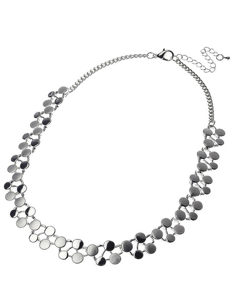 Silver Daisies' Chain Effect Necklace
