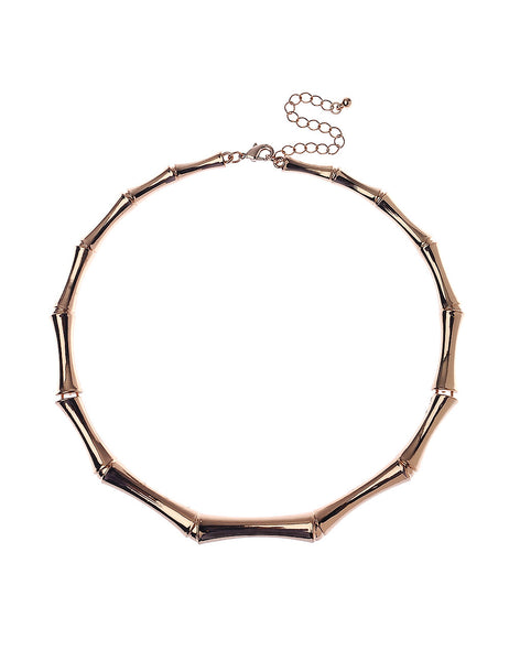 Bamboo Shaped Collar in Rose Gold