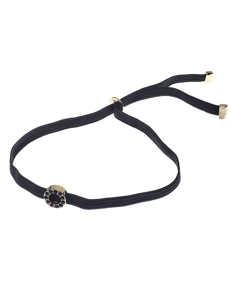 Choker Necklace with Gold Centre Piece