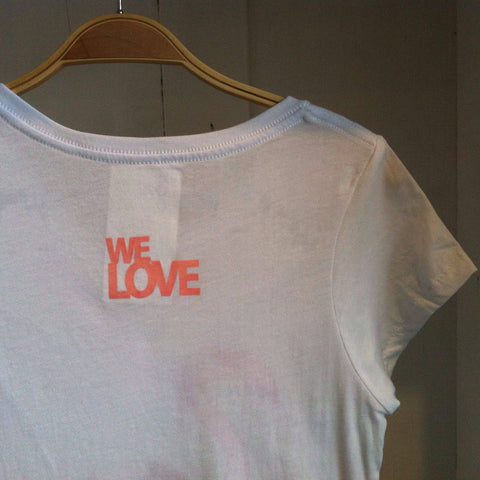 We Love, Flamingo White Tee