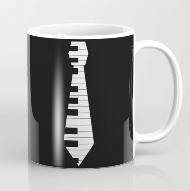 Piano Key Necktie