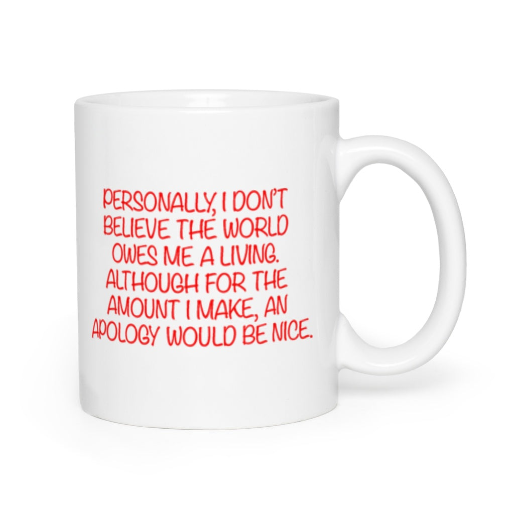 An Apology Mug