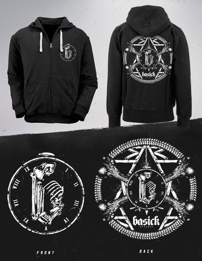 BASICK RECORDS - 'Decade Of Progression' Zip Hoodie