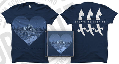 CREATE TO INSPIRE - Home Is Where My Heart Dies (T-Shirt + CD + Free Digital Copy Bundle)