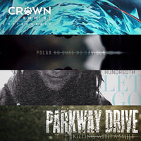 PARKWAY DRIVE - CROWN THE EMPIRE - POLAR - HUNDREDTH (x4 Vinyl LP Metalcore Bundle)