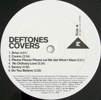 DEFTONES - Covers (Ltd Edition Compilation Vinyl LP)