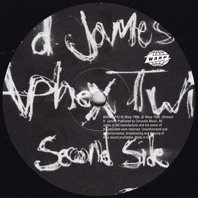 "APHEX TWIN - ""Richard D. James Album"" (Limited Edition 180gram Re-Issue Vinyl LP"