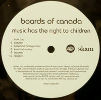 "BOARDS OF CANADA - ""Music Has The Right To Children"" (Limited Edition x2 Vinyl Gatefold LP)"