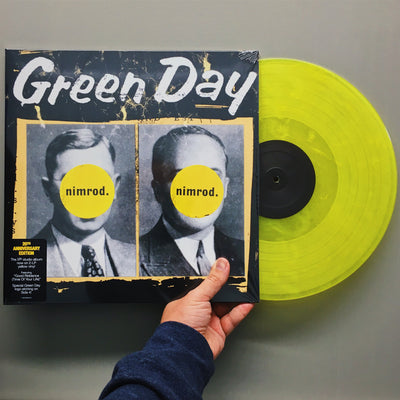 "GREEN DAY - ""Nimrod"" (Limited Edition x2 Gatefold 140gram Yellow Vinyl + Etched D Side)"