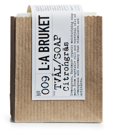 La Bruket soap lemongrass organic beauty product