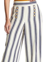 1.State Stripe High Waist Sailor Pant M Sugar Cane