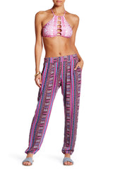 Lucky Brand Desert Dancer Cover-Up Pant L Multi