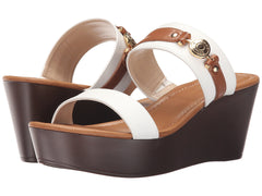 Tommy Hilfiger Sydney Sandals White/Tan 8.5