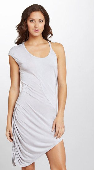 VERTIGO ASYMMETRIC DRESS M ASH