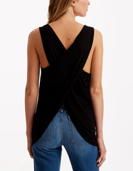 Genetic Denim Aylin Crossback Knit Tank L