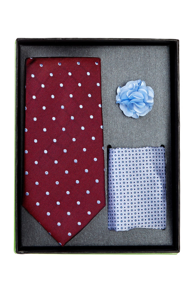 Bristol & Bull Red & Blue Tie Silk Set