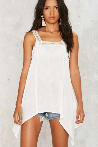 Nasty Gal Hang Ten Asymmetric Top M