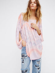 Free People Mystic Tunic M Pink Combo