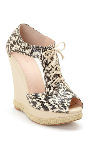 Plomo Esther Wedge Sandal 38 Beige