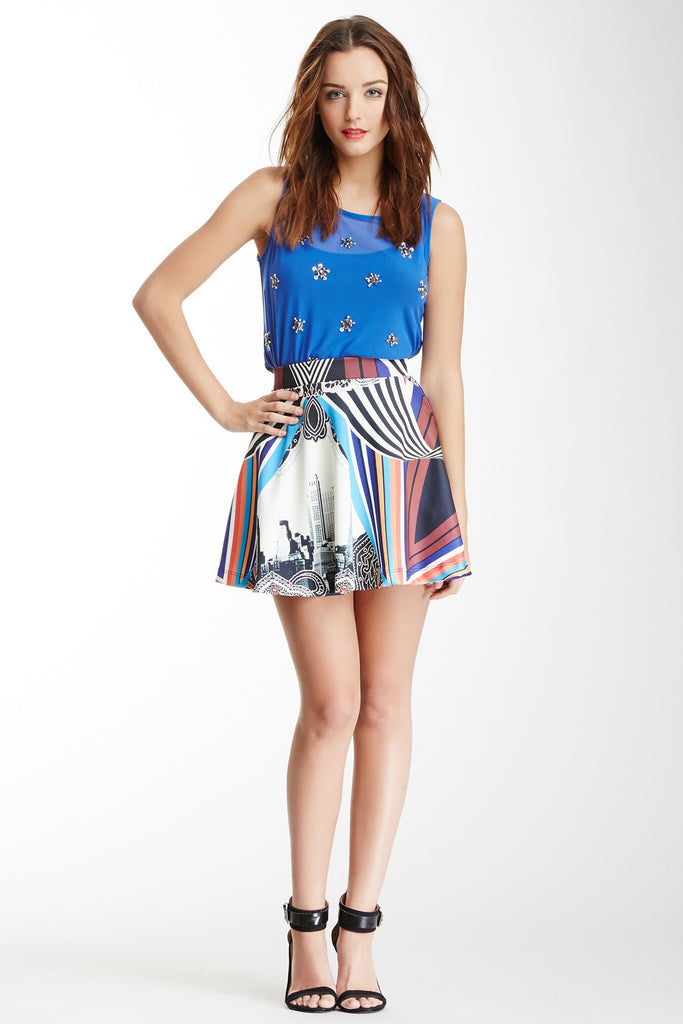 Romeo & Juliet Couture Printed Skirt L