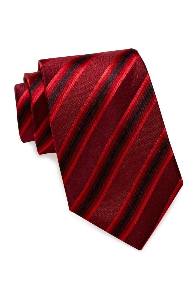 Kenneth Cole Reaction Tony Stripe Tie Red