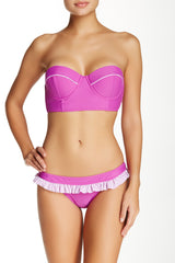 MINKPINK Wisteria Dream Bra Cup Bikini Top L Purple